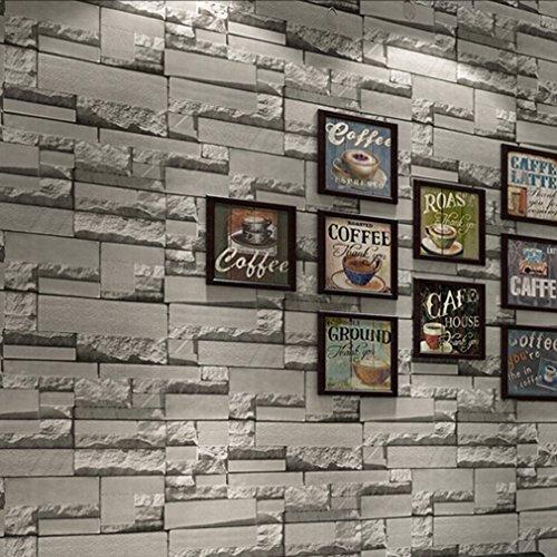 trendy source modern 3d faux brick stone textured. Black Bedroom Furniture Sets. Home Design Ideas