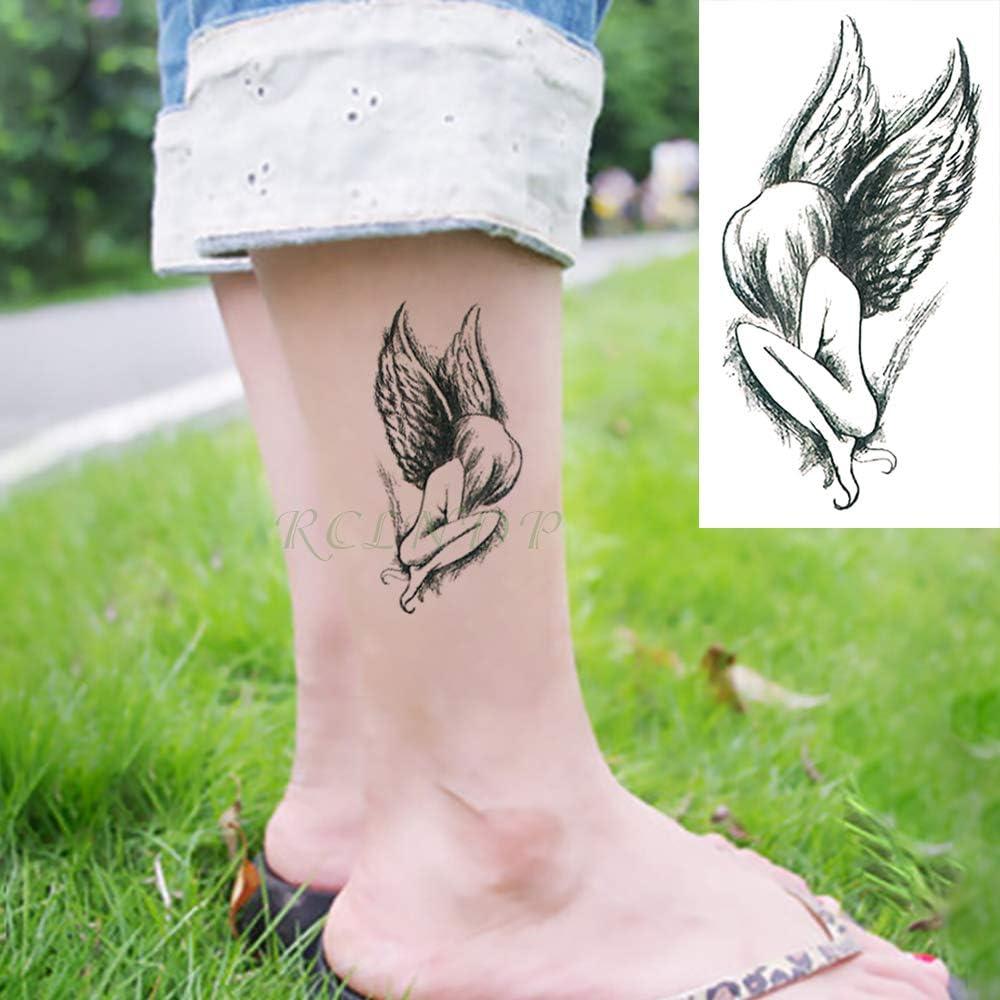 tzxdbh 3 Unids Impermeables Pegatinas de Tatuaje Temporal Alas de ...