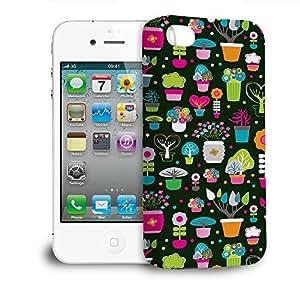 Phone Case For Apple iPhone 4/4S - Green Fingers Gardener Designer Hardshell