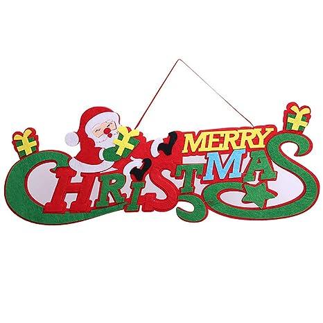 Buon Natale In Inglese.Xiton Addobbo Natale Appendendo Decorazione Buon Natale Inglese