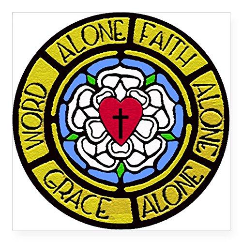 CafePress Grace Faith Word Square Sticker 3&Quot; X 3&Quot; Square Bumper Sticker Car Decal, 3