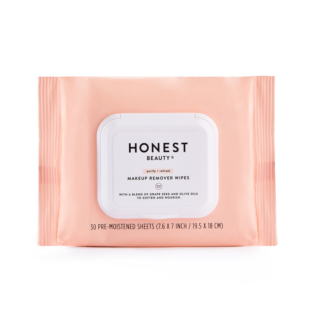 Honest Beauty Makeup Remover Wipes With Grape Seed & Olive Oils | Paraben Free, Synthetic Fragrance Free, Dermatologist Tested, Cruelty Free | 30 Count by Honest Beauty