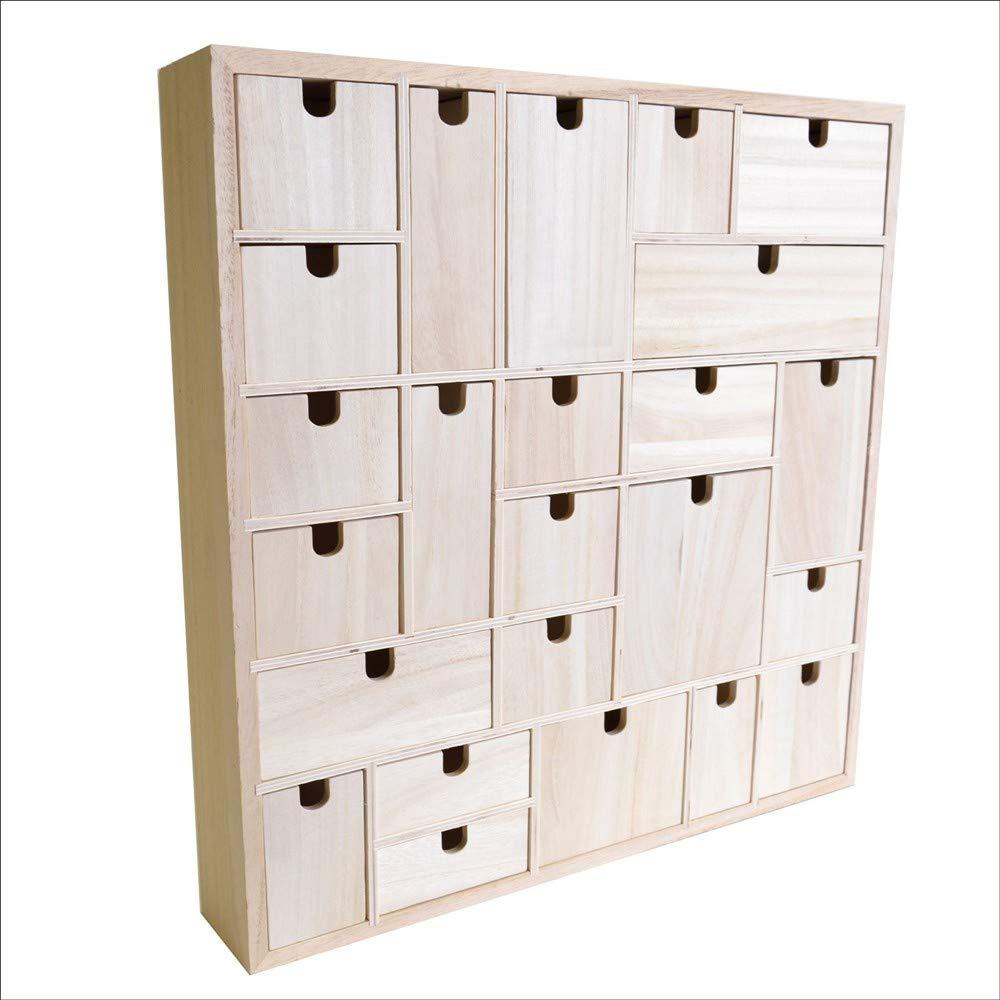 Artemio Wooden Advent Calendar To Decorate Geometric Wood 40 X 65 X 40 Cm