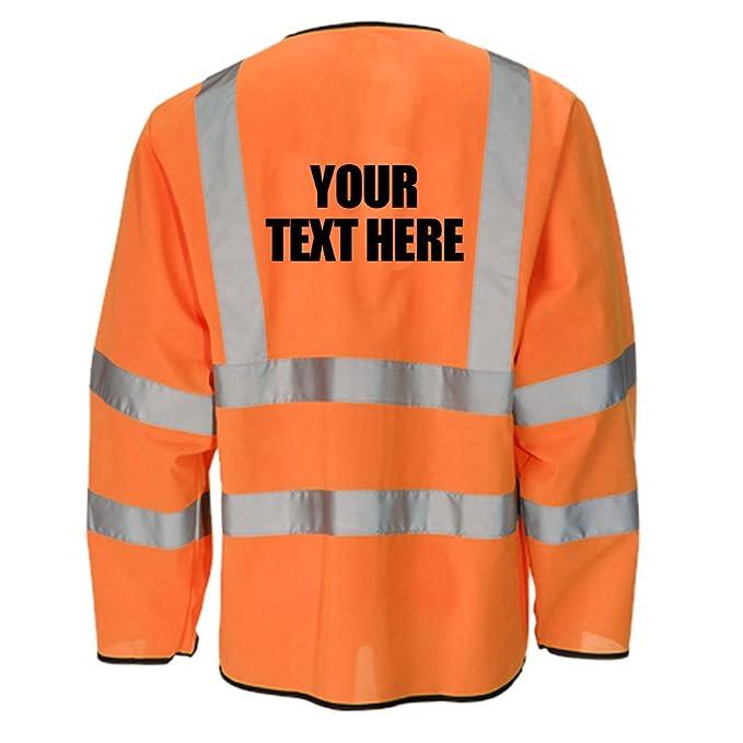 Personalizadas impresas Hi Vis de alta visibilidad Viz chaqueta de chándal ligera perchero de pared de seguridad todos los tamaños Naranja naranja: ...