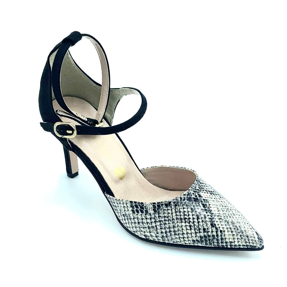 Ritmo scarpe Mary Jane con Punta pitonata