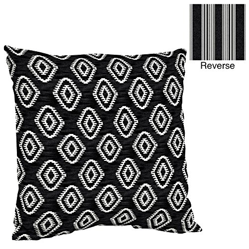 Ikat Sari - Outdoor Deep Seat Pillow Back Cushion, Better Homes and Gardens (Diamond Wandering Ikat)