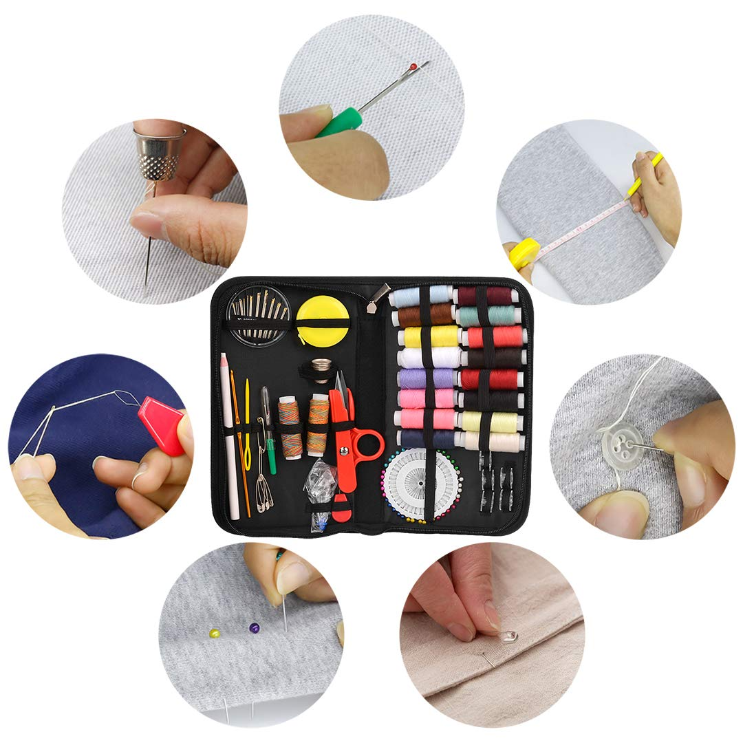 Mini Sewing Kits 139pcs Hand Sewing Tool Kit for Home Travel Camping and Emergency Use by STURME