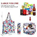 F.FETIVEN Reusable Grocery Bags Set of 3 Durable and Lightweight Duty Foldable Shopping Tote Bag