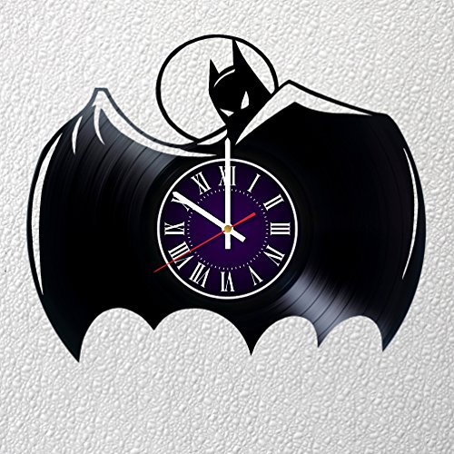 Identica Store Batman Dark Knight DC Vinyl Record Wall Clock - Room Wall Decor - Art Gift Modern Home Record Vintage Decoration Gift for Him and Her - Gift for Fan Gifts for Boys Man Girls w
