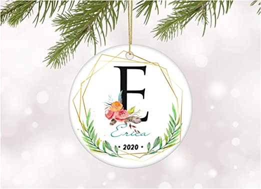 Amazon.com: Ornament Tree With Name Erica Gift Christmas Floral