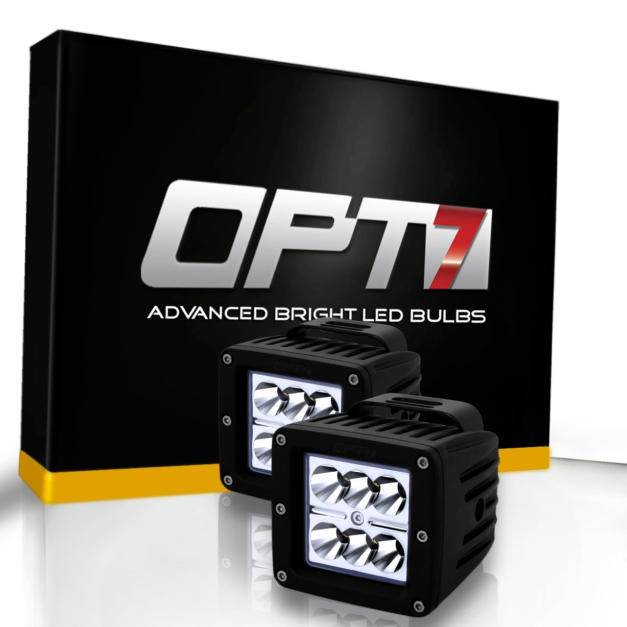 Opt7 Cree Led Pod With Wiring Harness 2 Pcs 18w Fog Light Work