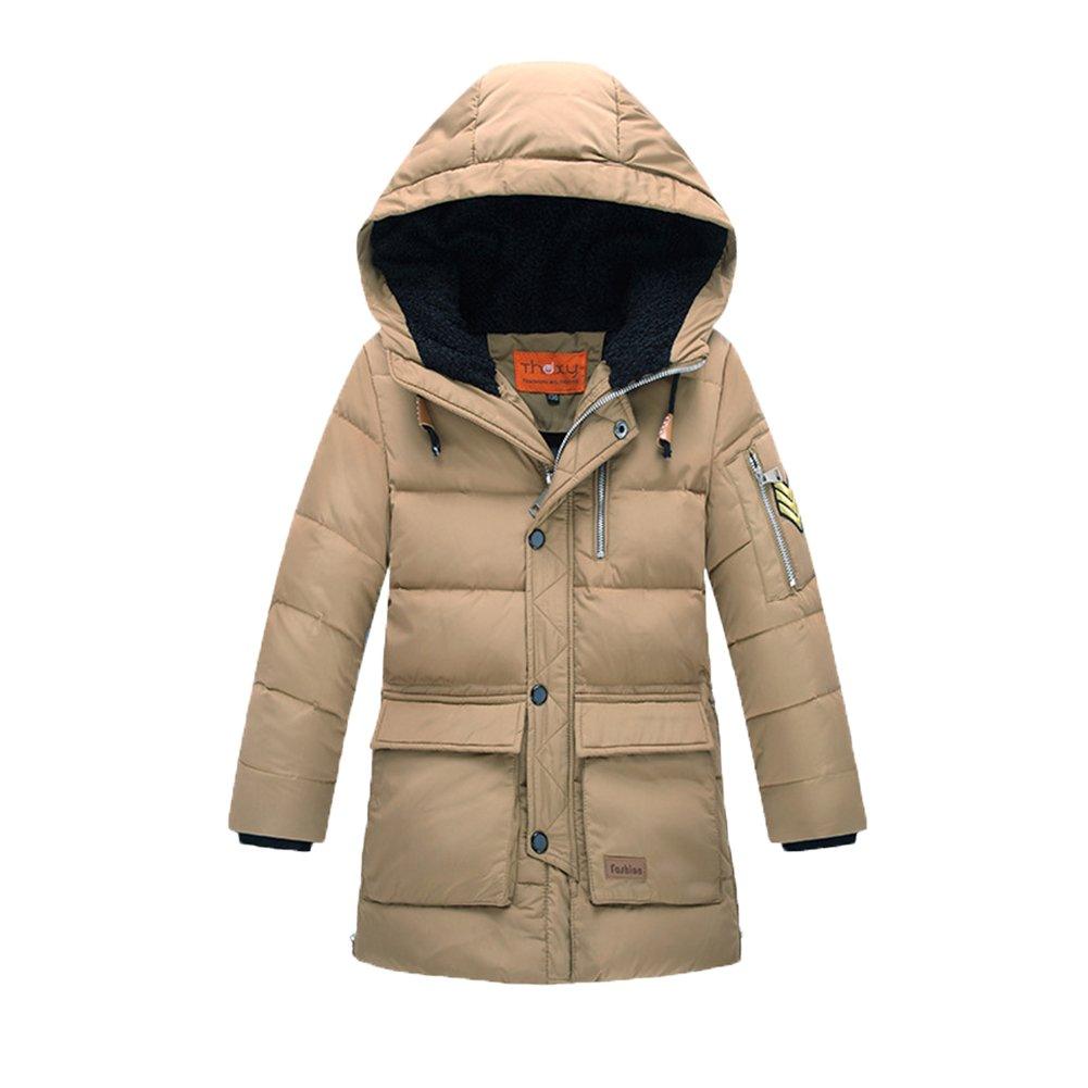Beige  OHmais Unisexe enfant garçon fille veste d'hiver hommeteau doudoune à capuche