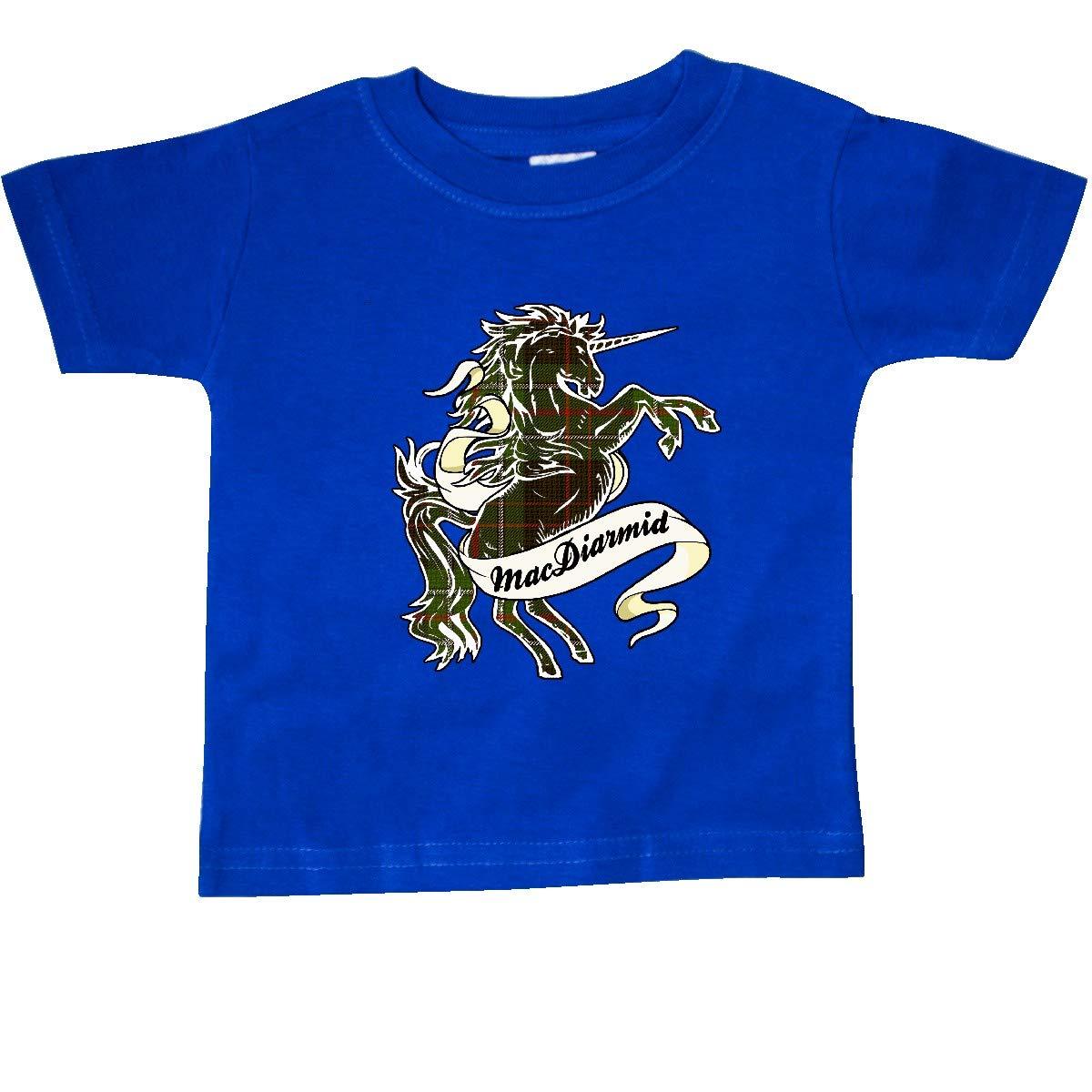 inktastic MacDiarmid Tartan Unicorn Baby T-Shirt