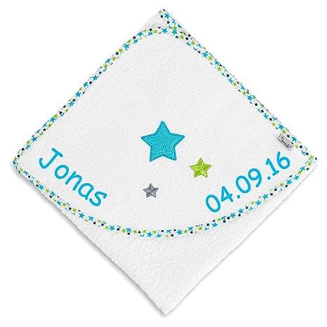 Sterntaler Toalla con capucha con nombre bordado 80 x 80 cm TOALLA Baby regalo para nacimiento