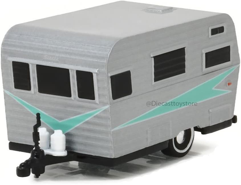 Greenlight 1:64 Hitched Homes Series 2 - 1958 Siesta Trailer DIECAST Silver 34020-A