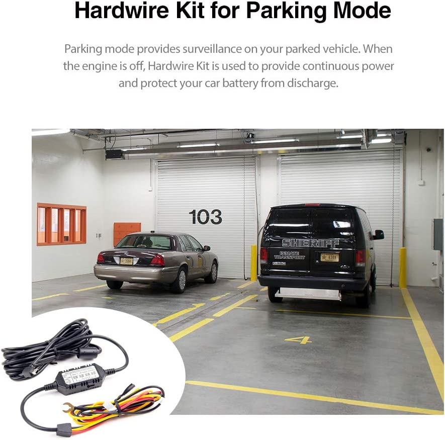 A119 V3 Dash Cam VIOFO HK3 Acc 3-Wire Hardwire Cable 4 Meters for Parking Mode for A129