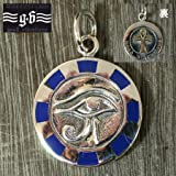 【goodvibrations】古代エジプト ウジャト(ホルスの眼) &アンク(エジプト十字) シルバー ペンダント