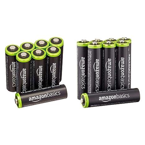 Amazon.com: AmazonBasics Baterías recargables ...