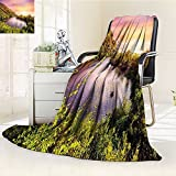 Digital Printing Blanket Tropical India Goa Arambol Sweet with Trees Scenery Summer Quilt Comforter