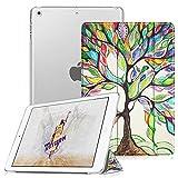 Fintie Case for iPad Mini 3/2 / 1 - Lightweight Smart Slim Shell Translucent Frosted Back Cover Protector Supports Auto Wake/Sleep for Apple iPad Mini 1 / Mini 2 / Mini 3, Love Tree