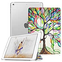 Fintie Case for iPad Mini 3/2 / 1 - Lightweight Smart Slim Shell Translucent Frosted Back Cover Protector Supports Auto Wake/Sleep for Apple iPad Mini 1 / Mini 2 / Mini 3, Love Tree