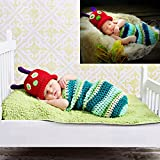 yazi Newborn Baby Photography Props Caterpillar Infant Crochet Knit Costume Shower Gift
