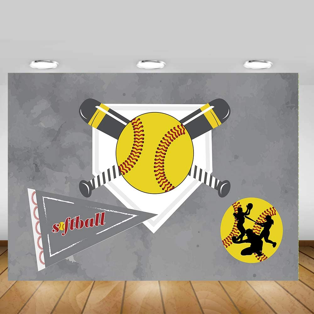 HUAYI Cartoon Painted America Football Pattern Backdrop Celebration America Football Match Decorations Banner Photo Studio Props Sports Event Party Photo Background Polyester Fabric US-W-3357-8/×6ft