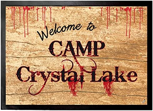 1art1 Friday 13th Door Mat Design Floor Mat – Welcome to Camp Crystal Lake 28 x 20 inches