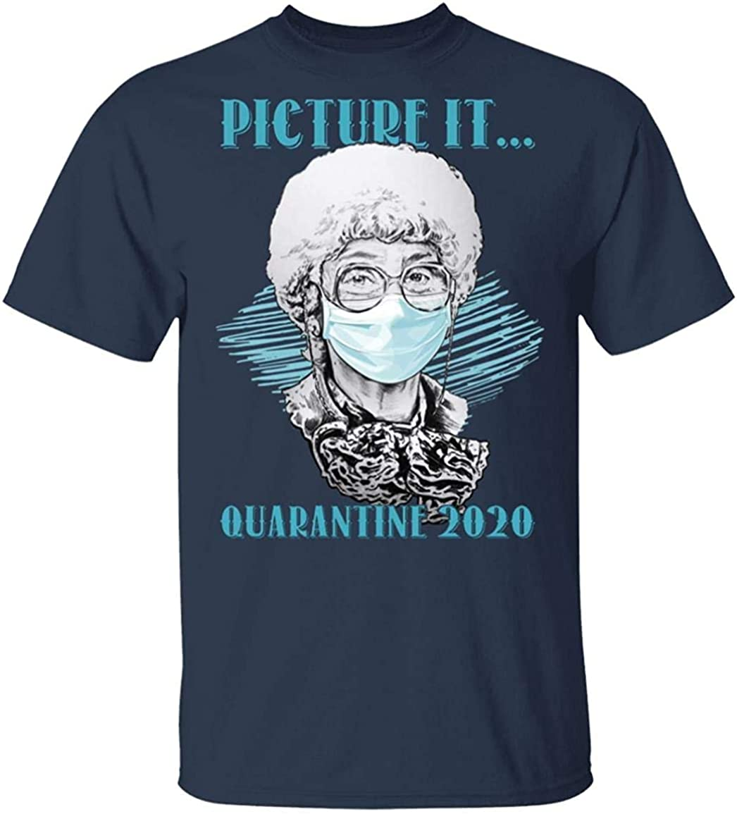 Funny Golden Girls Movie Shirt UNIYI Picture It Quarantine 2020 Sophia Golden Girls T-Shirt