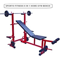 SPORTO FITNESS 8 in 1 Bench for Body Building Gym Workout
