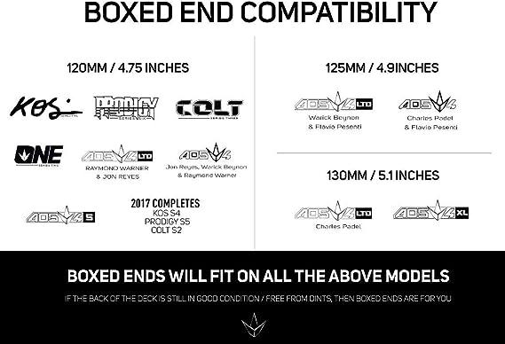 Blunt Cascadeur-Scooter Deck Box Ends 120 mm élargissement Tour Trottinette