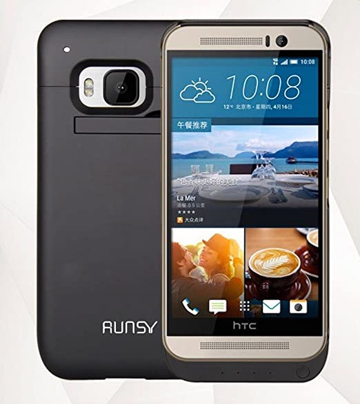 competitive price e97c5 b710d Amazon.com: RUNSY HTC ONE M9 Battery Case, 4500mAh Rechargeable ...