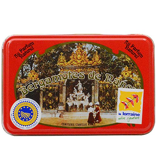 Bergamotes de Nancy Bergamot Candies 150 g Tin - Amber Open Sugar