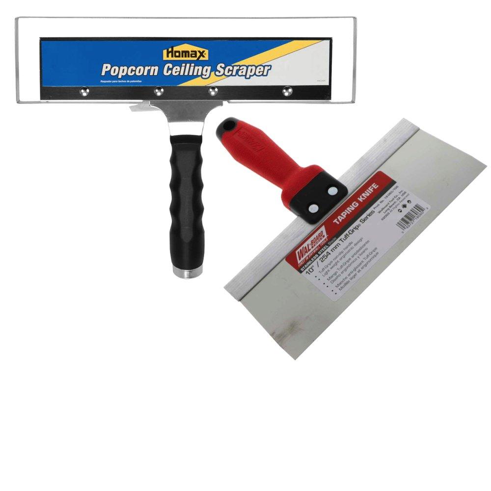 Homax Acoustic Popcorn Ceiling Scraper with Bag Hoop Plus Stainless Steel Scraping/Putty Knife