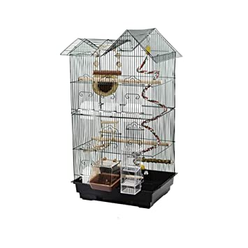 DWY Jaulas para pájaros Jaula de bambú Jaula de pájaro del Loro de ...