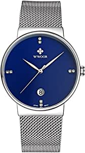 Business man watch from WWOOR with Blue face