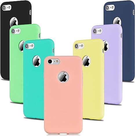 8x Cover iPhone 7 Silicone Custodia iPhone 7 Morbido Opaco