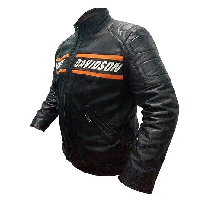Leatherly Giacca Uomo Bill Goldberg Stile Motociclista Pelle Giacca Nero-  XXL  Amazon.it  Abbigliamento 667fa6cb516