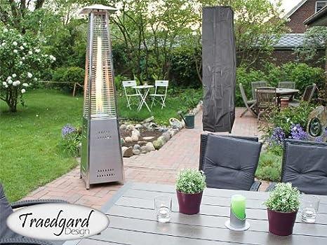 Traedgard Lava - Estufa para exteriores (acero), diseño piramidal: Amazon.es: Jardín