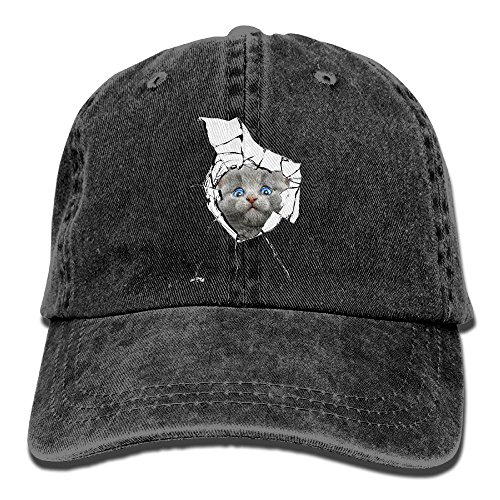 DA41SXK1 Cap Broken Glass Cat Stylish Cap Baseball Hat Head-Wear Cotton Snapback Hats - Center Shopping Anaheim
