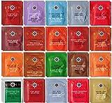 Stash Tea Bag & By The Cup Honey Stix Variety Sampler Including Black, Decaf & Oolong Teas - 40 Ct, 20 Flavor Assortment
