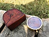 Thoreau's Go Confidently Quote Compass W/Stamped Case Not all those.