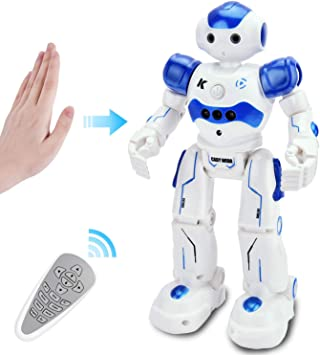 GotechoD Giocattolo Telecomandato RC Robot per Bambini, Telecomandato Robot Intelligente Programmabile, Interattivo Camminando Cantando Ballando Robot