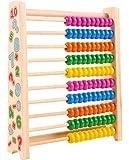 そろばん レインボーアバカス100 児童用100玉そろばん 算数 知育玩具 木のおもちゃ お誕生日 3 4 5 歳 入園卒園 入学卒業 子供 (1)