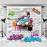Kate 10x10ft White Brick Graffiti Wall Photography Backdrop Street Urban Art Photo Backgrounds for Children Party Studio Props