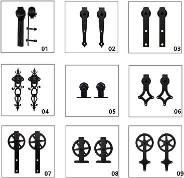 2 Piezas Kit de suspensión de rodillos de la puerta de granero deslizante para Puerta Corredera Kit de Accesorios, Sólo rodillos 2PCS (sin riel): Amazon.es: Bricolaje y herramientas