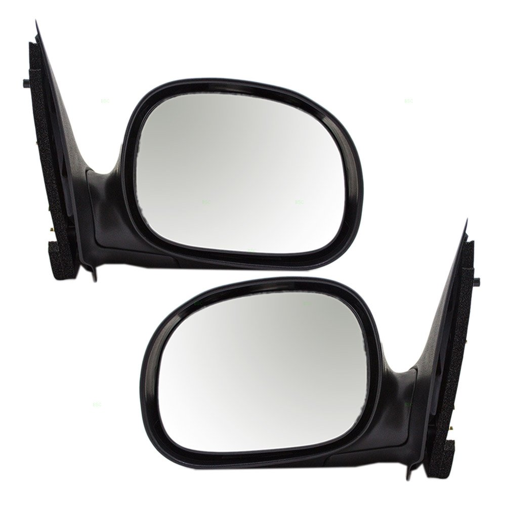 Driver and Passenger Manual Side View Contour Type Mirrors Smooth Replacement for Ford Pickup Truck F85Z17683BAA F85Z17682BAA