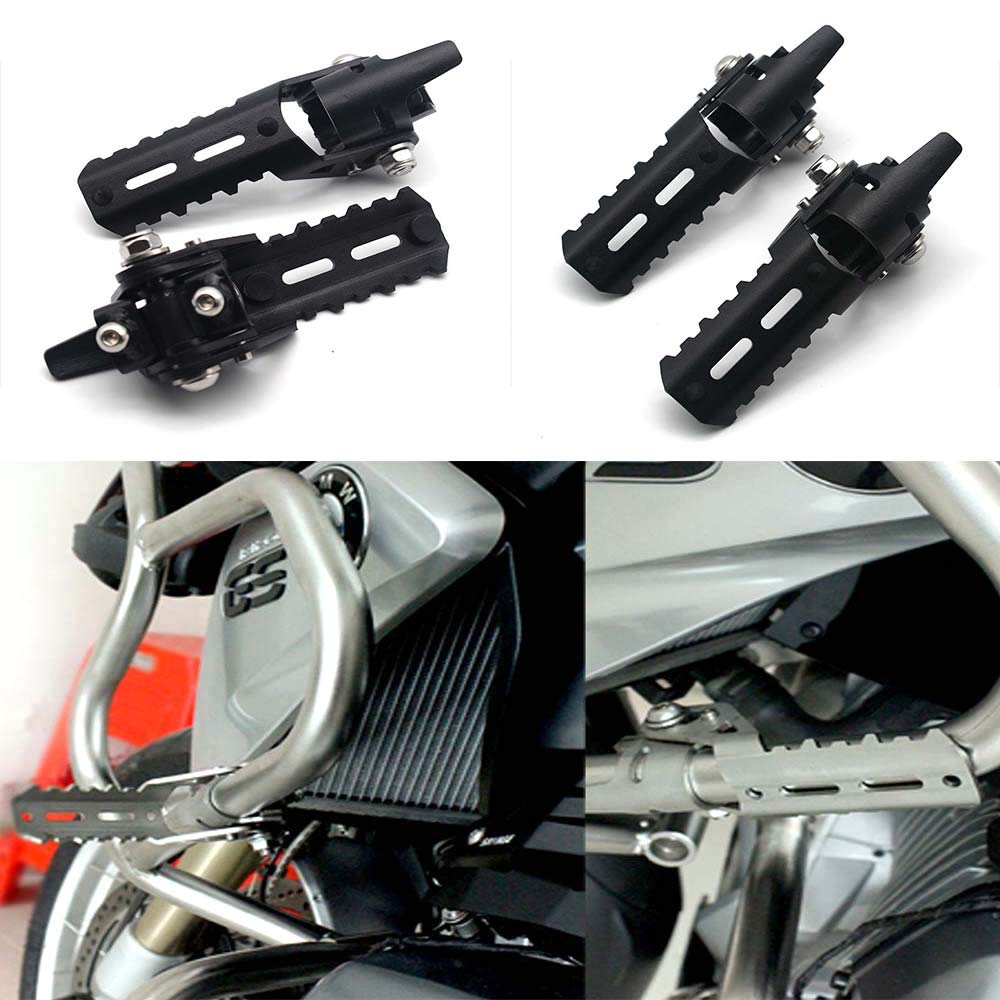 Fits For BMW R1200GS LC 2013-2017 Triumph Tiger Explorer Motorcycle Highway Pegs Footpegs 25mm Crash Bars Mount Smilemoto