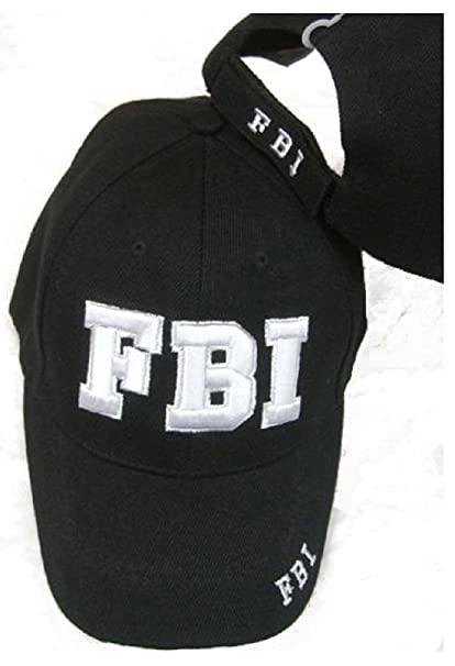 Amazon.com  FBI Embroidered Adjustable HAT Black Ball Cap  Sports ... df50cd21c93