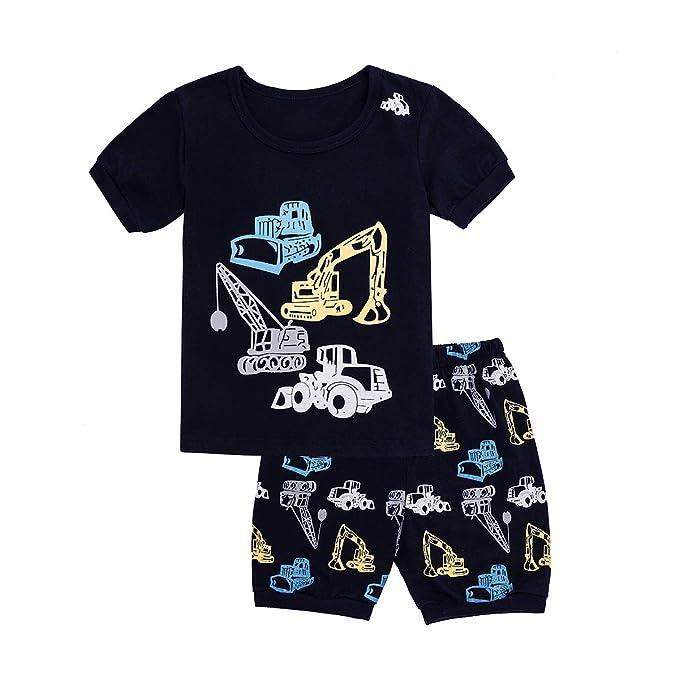 c9faa0385ee4 Amazon.com  Tkala Fashion Boys Pajamas Summer Short Clothes Set 100 ...